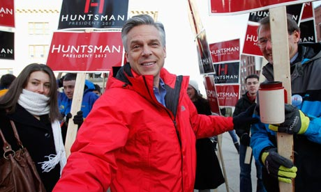 Jon Huntsman in Concord, New Hampshire