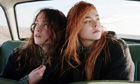 Alice Englert and Elle Fanning in a film still from Ginger and Rosa