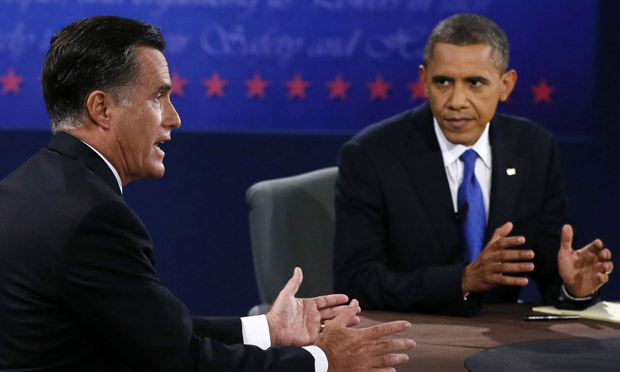 Barack Obama, Mitt Romney, Florida debate