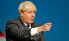 Boris Johnson addresses Conservative conference