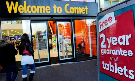 Comet store in south London
