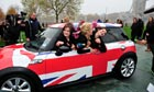 Twenty eight women cram into a mini in London