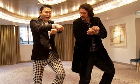Psy teaches Jay Rayner to dance Gangnam Style