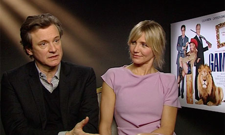 Colin Firth and Cameron Diaz talk about Gambit