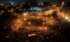 Protesters gather at Tahrir Square in Cairo