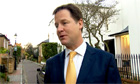 Nick Clegg speaks to reporters ahead of Leveson report being published