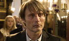 Mads Mikkelsen in a film still from The Hunt