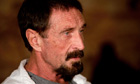 John McAfee in Guatemala City