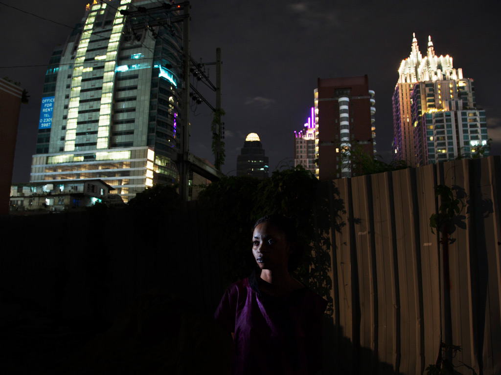Congolese refugee Beatrice, 27, from South Kivu, pictured in Bangkok, Thailand