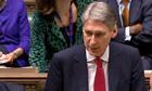 Philip Hammond speaks in the Commons