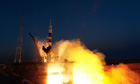 Soyuz rocket blasts off from Kazakhstan