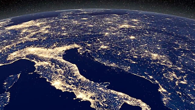 planet earth from space at night - photo #44