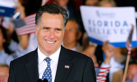 Mitt Romney celebrates victory in the Florida primary