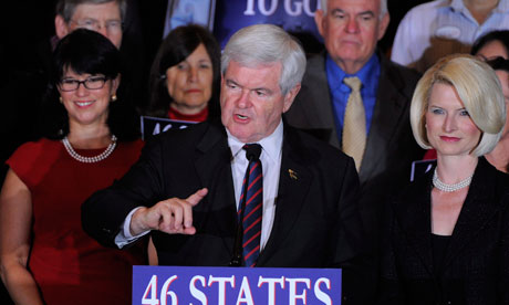Newt Gingrich: second place