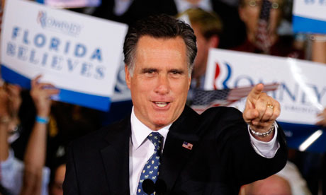 Mitt Romney celebrates in Florida