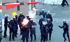 Police fire teargas at protesters in Manama, Bahrain