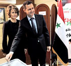Assad referendum vote Damascus