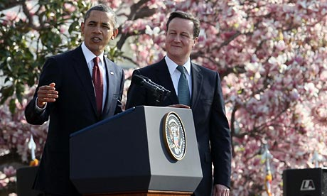 Prime minister David Cameron and US president Barack Obama
