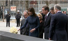David and Samantha Cameron visit World Trade Centre memorial