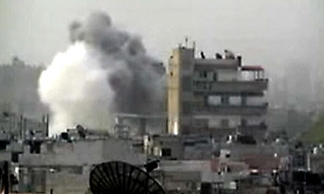 Homs bombardment Syria