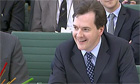 The chancellor of exchequer, George Osborne