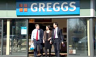 Ed Miliband goes for sausage rolls at Greggs
