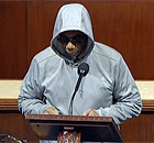 Democratic Congressman Bobby Rush wearing a hoodie