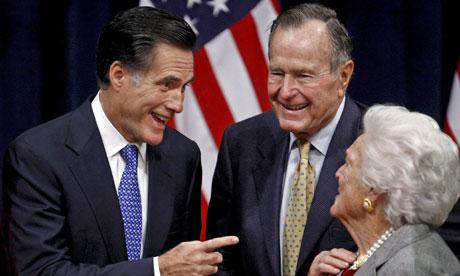 Mitt Romney George Sr endorse