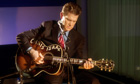 Chris Isaak performing in the Guardian studio