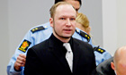 Anders Behring Breivik arrives in court on fifth day of trial