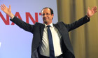 Franois Hollande celebrates victory