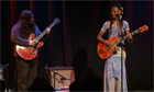 Fatoumata Diawara and Romeo Stodart on-stage at the Guardian Open Weekend