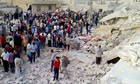 Syrians search for survivors after explosion in Hama