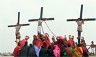 Filipinos re-enact Jesus' crucifixion on Good Friday