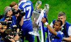 Didier Drogba holds Champions League trophy