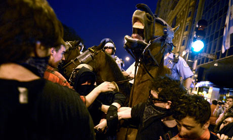Anti-Nato protesters clash with protesters