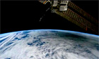 Solar eclipse from space - video