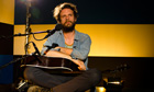 Father John Misty, aka Josh Tillman, performing in the Guardian studio