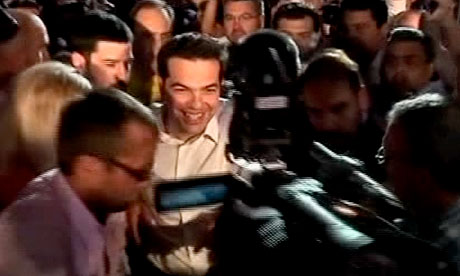 Leader of Greece's Left Coalition Party Alexis Tsipras