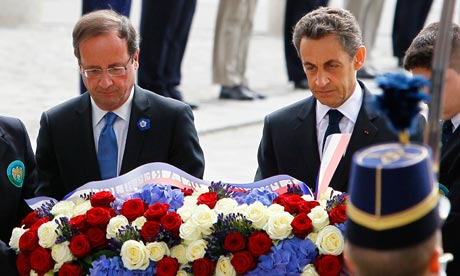 Francois Hollande and Nicolas Sarkozy