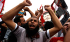 Muslim Brotherhood supporters celebrate in Cairo's Tahrir Square
