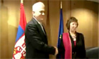 Baroness Ashton meets Serbia's President Tomislav Nikolic