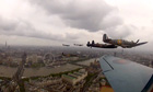 View from Spitfire during jubilee flypast