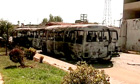 Burned out buses in the Damascus suburb of Qaboun