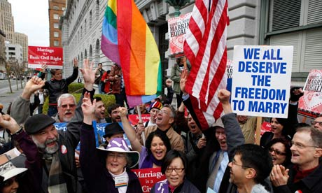 Gay rights activists in C 008 Gay marriage has ...