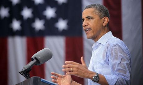 Barack Obama wet