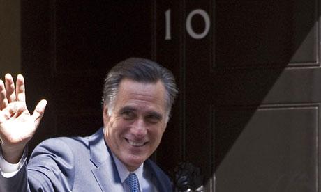 Mitt Romney outside 10 Downing Street