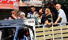 Syrians flee Aleppo