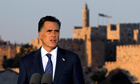Mitt Romney in front of Jerusalem's Old City