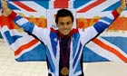 Tom Daley wears bronze medal